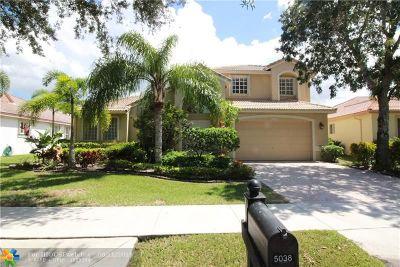 Coconut Creek Single Family Home For Sale: 5038 Mallards Ct