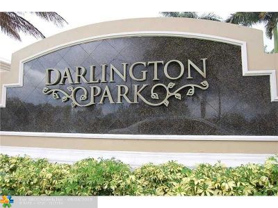 Cooper City Condo/Townhouse For Sale: 9725 Darlington Pl #9725