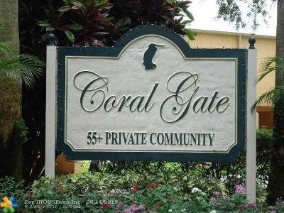 Margate Condo/Townhouse For Sale: 6401 Coral Lake Dr #101