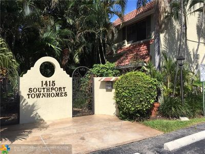 Fort Lauderdale Condo/Townhouse For Sale: 1415 Miami Rd #A