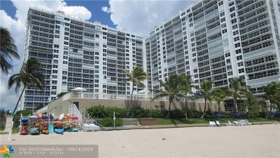 Fort Lauderdale Condo/Townhouse For Sale: 4300 N Ocean Blvd #7J