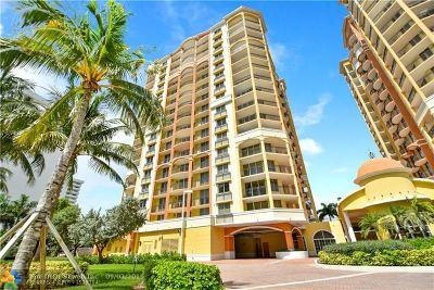 Fort Lauderdale Condo/Townhouse For Sale: 2001 N Ocean Blvd #402S