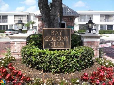 Fort Lauderdale Condo/Townhouse For Sale: 6401 Bay Club Dr #1