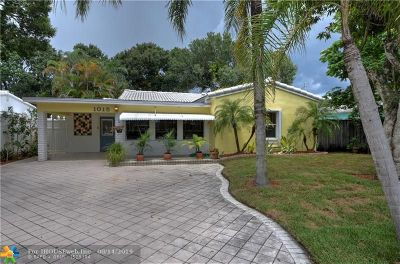 Fort Lauderdale Single Family Home For Sale: 1015 SW 20th St