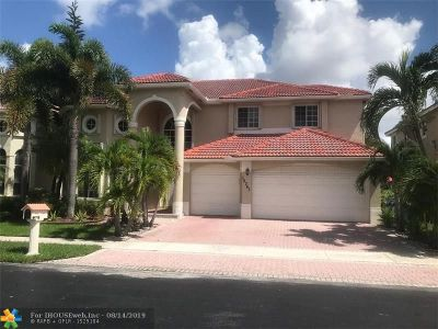 Coral Springs Single Family Home For Sale: 12347 NW 25th St