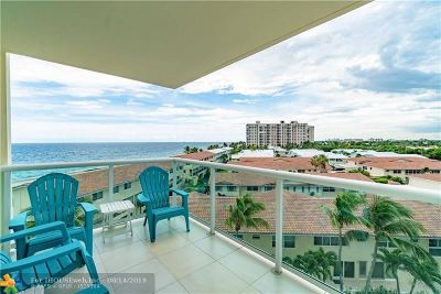 Lauderdale By The Sea Condo/Townhouse For Sale: 6000 N Ocean Blvd #6E