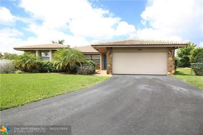 Coral Springs Single Family Home For Sale: 2148 NW 115th Ln