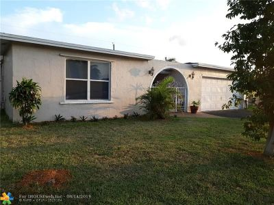 Sunrise Single Family Home For Sale: 9240 NW 24th Ct