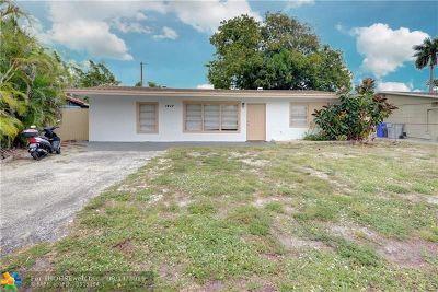 Pompano Beach Single Family Home For Sale: 1417 NE 29th St