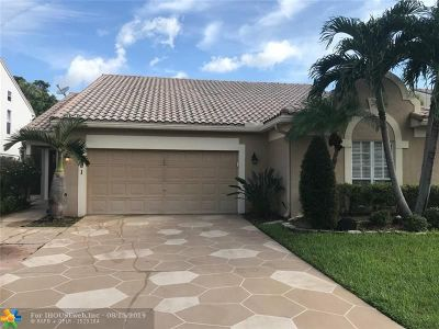Coconut Creek Single Family Home For Sale: 3421 NW 71st St