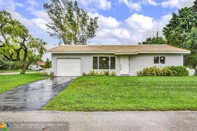 Coral Springs Single Family Home For Sale: 4141 NW 79th Ave