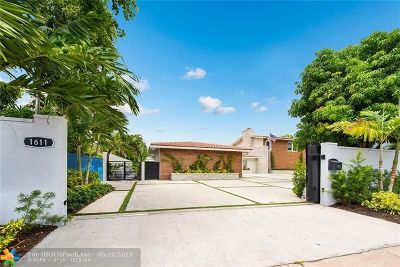 Fort Lauderdale Single Family Home For Sale: 1611 Seabreeze Blvd