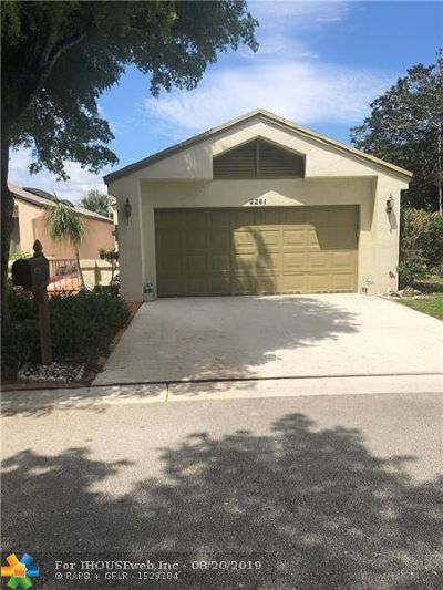 Coconut Creek Single Family Home For Sale: 2261 NW 34th Ter