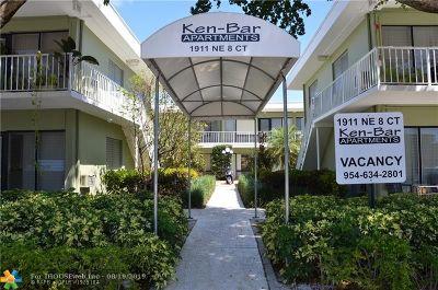 Fort Lauderdale Rental For Rent: 1911 NE 8th Ct #134