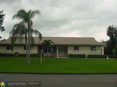 Davie Single Family Home For Sale: 13100 SW 16 Ct
