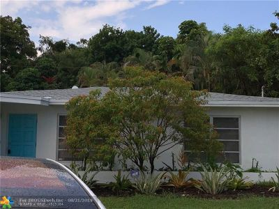 Oakland Park Single Family Home For Sale: 2011 NW 39th Ct