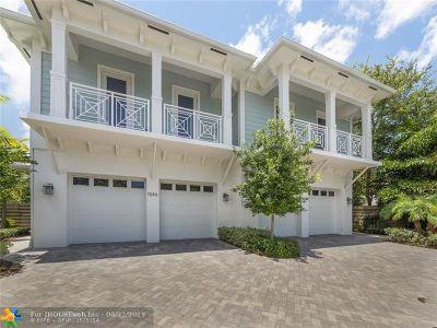 Fort Lauderdale Condo/Townhouse For Sale: 1546 Argyle Dr #3