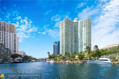 Fort Lauderdale Condo/Townhouse For Sale: 347 N New River Dr E #2409