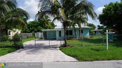Pompano Beach Single Family Home For Sale: 1433 NE 27th St