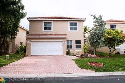 Coral Springs Single Family Home For Sale: 11015 NW 34th Mnr