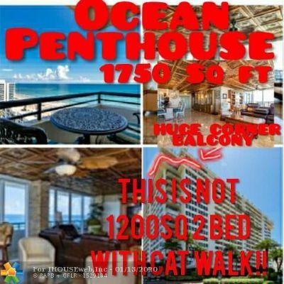 Boca Raton Condo/Townhouse For Sale: 2000 S Ocean Blvd #PH F