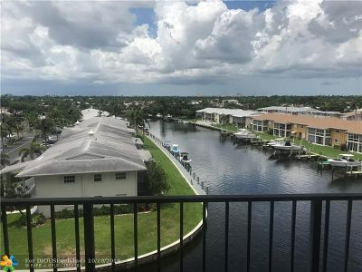 Pompano Beach Condo/Townhouse For Sale: 801 S Federal Hwy #608