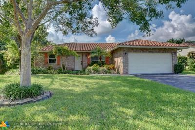 Coral Springs Single Family Home For Sale: 10842 NW 15th St