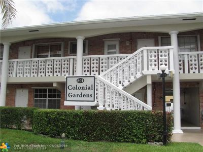 Pompano Beach Condo/Townhouse For Sale: 801 Pine Dr #20