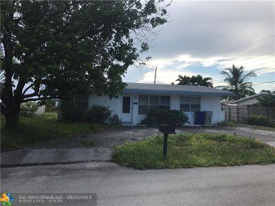 Pompano Beach Single Family Home Backup Contract-Call LA: 4161 NE 11th Ter