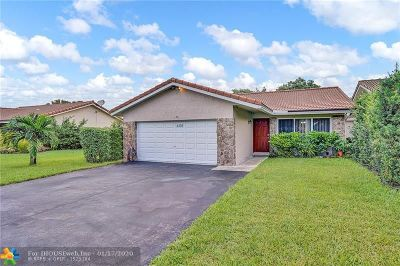Coral Springs Single Family Home For Sale: 2335 NW 92nd Ave