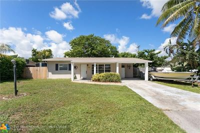 Pompano Beach Single Family Home For Sale: 3011 NE 9 Ter