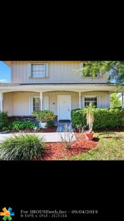 Plantation Single Family Home For Sale: 7810 NW 3rd Ct