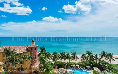 Fort Lauderdale Condo/Townhouse For Sale: 2100 N Ocean Blvd #8D