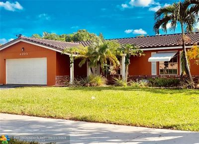 Coral Springs Single Family Home For Sale: 4005 NW 78th Ave