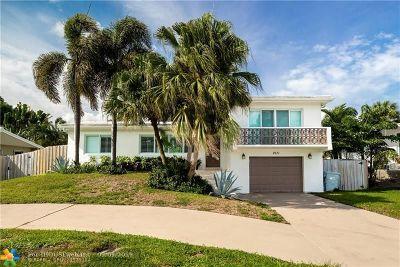 Pompano Beach Single Family Home For Sale: 2671 NE 18th St