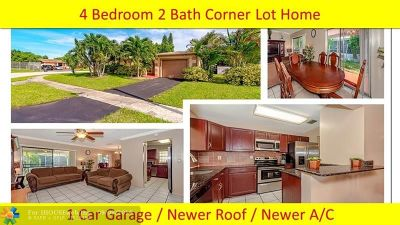 North Lauderdale Single Family Home For Sale: 8261 SW 4th Pl