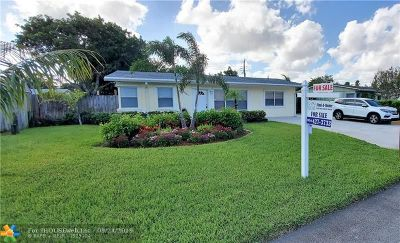 Pompano Beach Single Family Home For Sale: 2841 NE 9th Ter