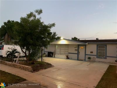 North Lauderdale Single Family Home For Sale: 6470 SW 8th St