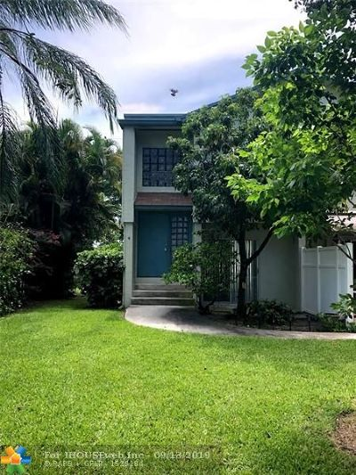 Pompano Beach Condo/Townhouse For Sale: 3005 NW 5 Terrace #4