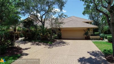 Coral Springs Single Family Home For Sale: 11844 Winged Foot Ter