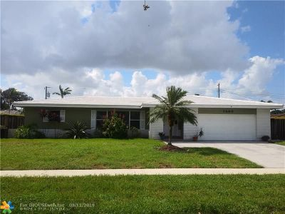 Plantation Single Family Home For Sale: 7460 NW 6th Ct