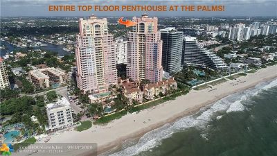 Fort Lauderdale Condo/Townhouse For Sale: 2110 N Ocean Blvd #PENTHOUS