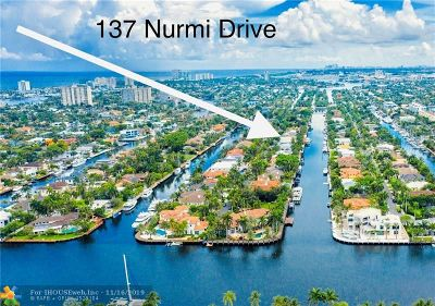 Fort Lauderdale Single Family Home For Sale: 137 Nurmi Dr