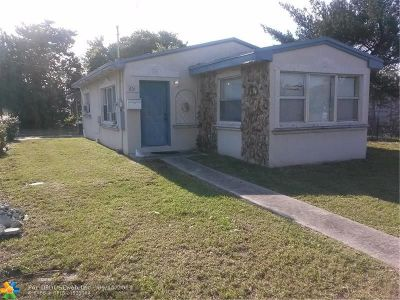 Pompano Beach Single Family Home For Sale: 601 NW 9th Ave