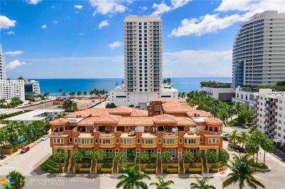 Fort Lauderdale FL Condo/Townhouse For Sale: $1,050,000