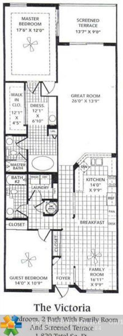 Tamarac Condo/Townhouse For Sale: 7715 Southampton Ter #312