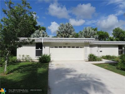 Tamarac FL Single Family Home For Sale: $217,000