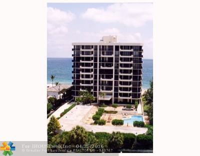 Pompano Beach Condo/Townhouse For Sale: 1300 S Ocean Bl #PH-2