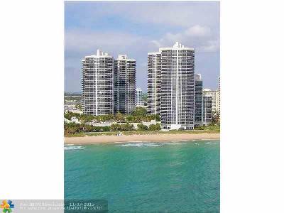 Fort Lauderdale Condo/Townhouse Sold: 3100 N Ocean Blvd #707