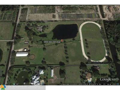 Davie Residential Lots & Land Backup Contract-Call LA: 5400 SW 70th Ave